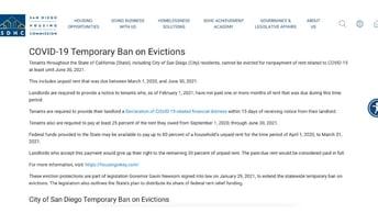 Eviction Moratorium San Diego